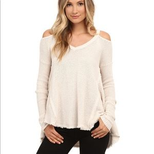 Free People Moonshine V Neck Thermal Sweater